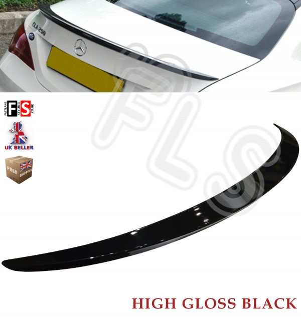 MERCEDES CLA W117 C117 AMG STYLE REAR TRUNK BOOT LIP SPOILER GLOSS BLACK OEM FIT