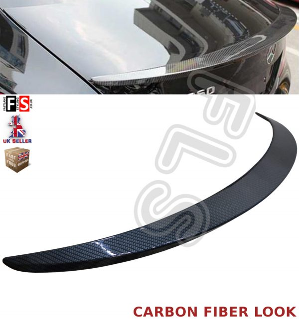 MERCEDES CLA CLASS W117 C117 AMG BOOT LIP SPOILER CARBON FIBER LOOK 100% OEM FIT