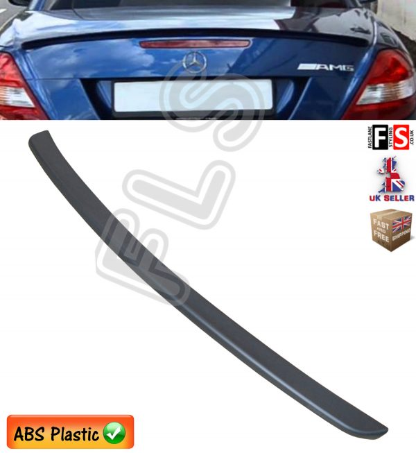 MERCEDES SLK R171 W171 AMG STYLE TRUNK BOOT LIP SPOILER 04 11 MATT BLACK OEM FIT