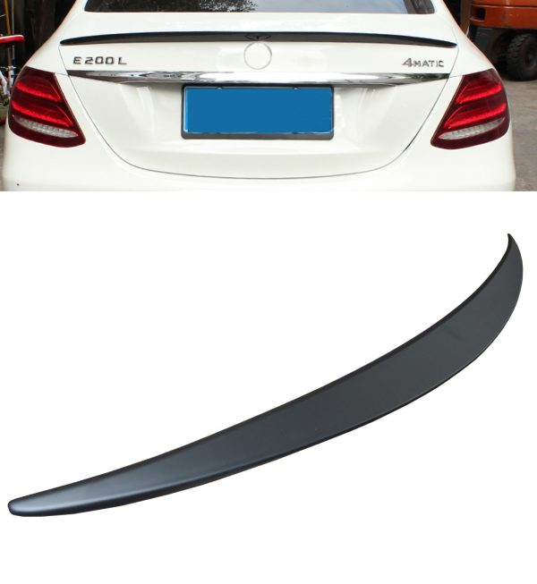 MERCEDES E CLASS W213 AMG STYLE REAR TRUNK BOOT LIP SPOILER MATTE BLACK OEM LOOK