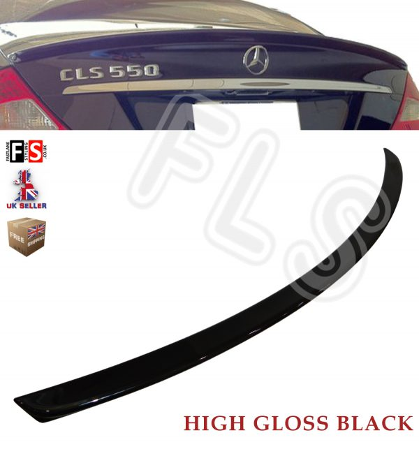 MERCEDES CLS CLASS C219 W219 GLOSS BLACK AMG STYLE REAR BOOT LIP SPOILER 04-10