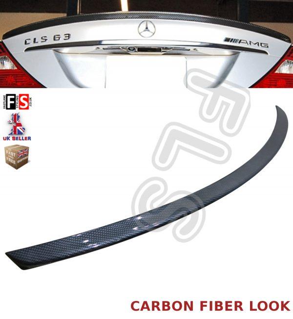 MERCEDES CLS C219 W219 COUPE CARBON FIBRE LOOK AMG REAR BOOT LIP SPOILER 04-10