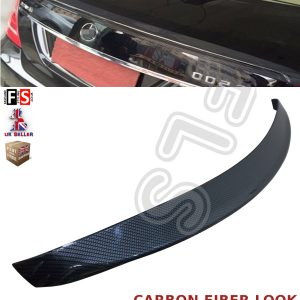 MERCEDES S CLASS W221 AMG REAR TRUNK BOOT LIP SPOILER 07-13 CARBON FIBRE LOOK