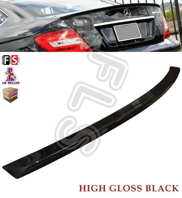 MERCEDES C CLASS COUPE C204 AMG REAR TRUNK BOOT LIP SPOILER GLOSS BLACK OEM FIT