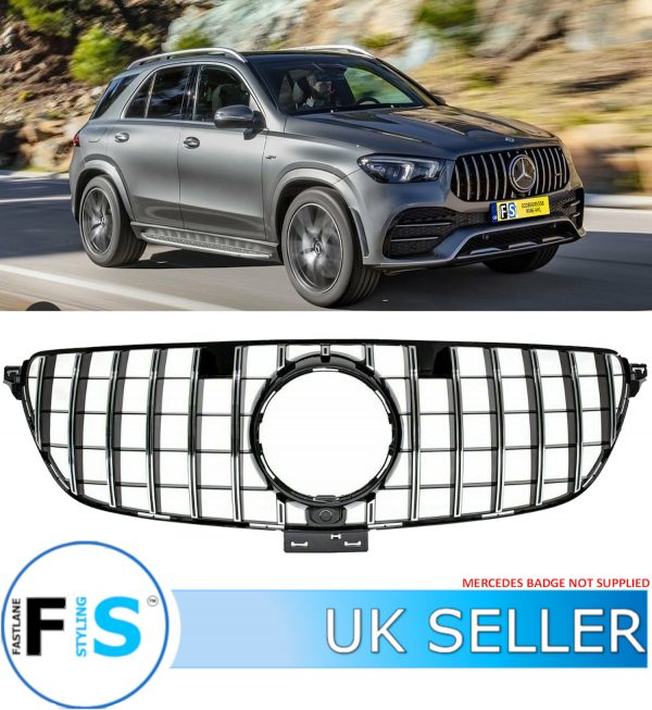 MERCEDES GLE C292 AMG PANAMERICA CHROME TRIM GT STYLE GRILLE