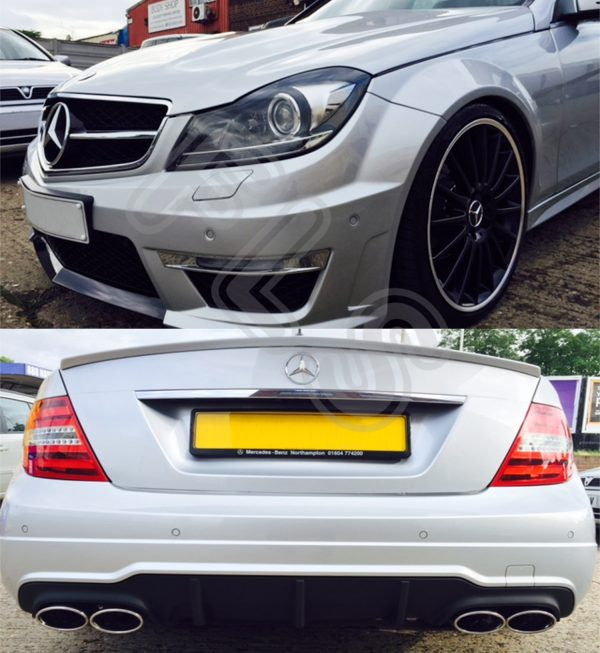 MERCEDES BENZ 07-12 W204 AMG C63 BODY KIT WITH HEADLIGHTS, FRONT/REAR BUMPERS