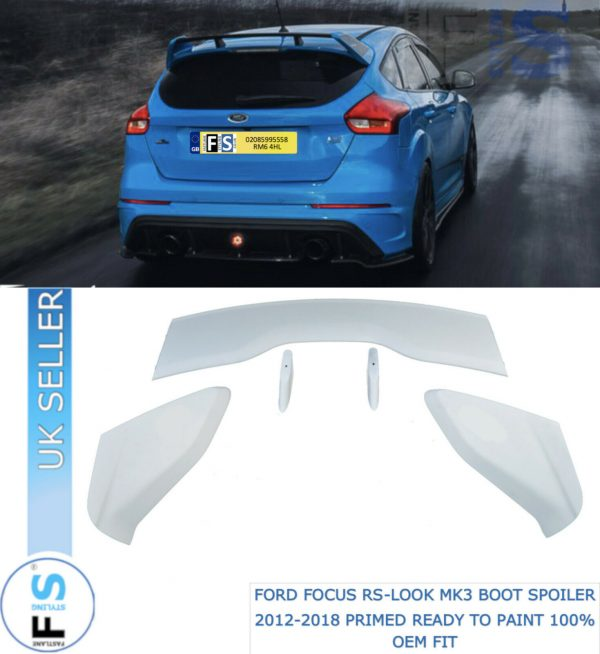 FORD FOCUS RS STYLE MK3 BOOT ROOF SPOILER EXTENSION WING