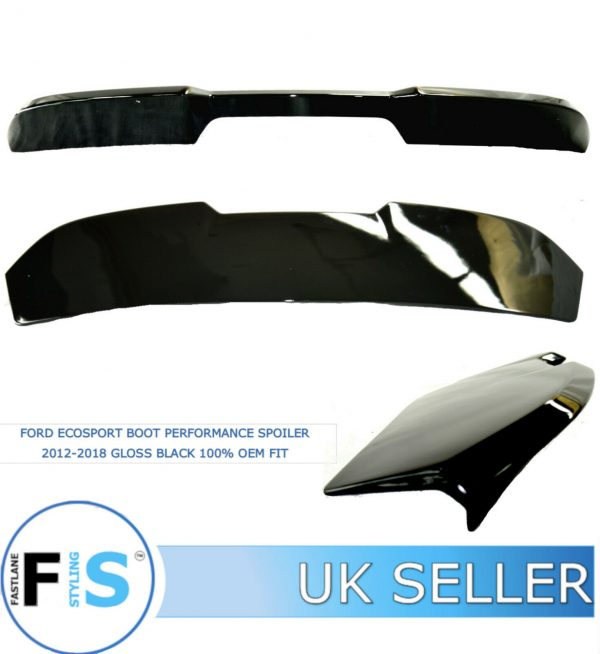 FORD ECOSPORT BOOT ROOF PERFORMANCE SPOILER GLOSS BLACK