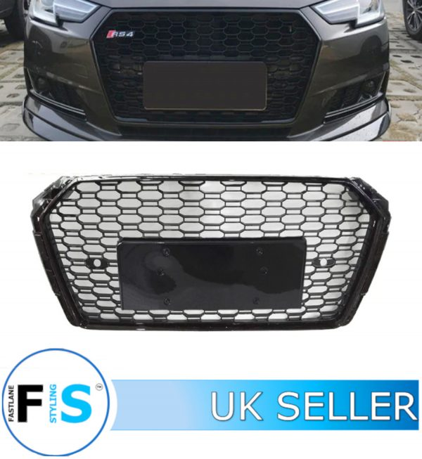 AUDI A4 S4 RS4 STYLE HONEYCOMB MESH FRONT GRILLE