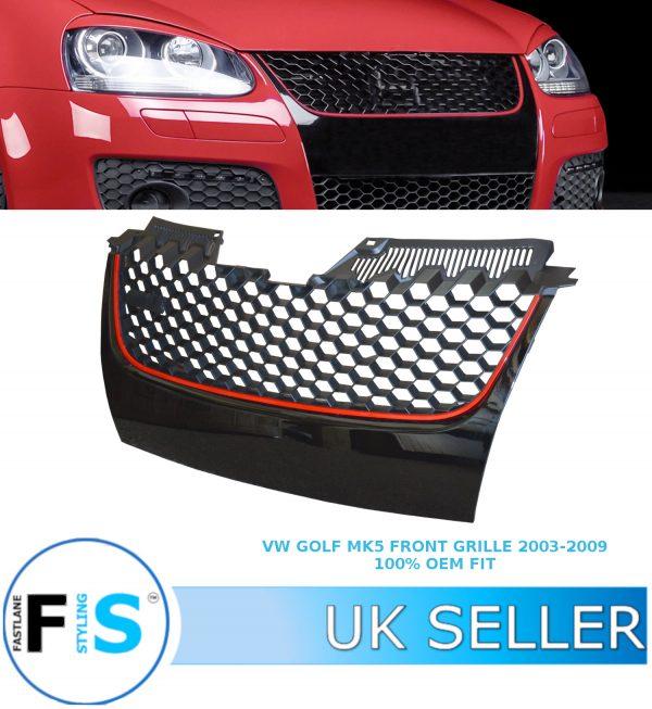 VW GOLF 5 MK5 GTI BADGELESS FRONT GRILLE