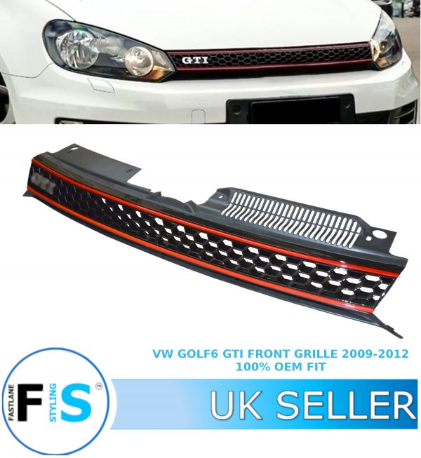 VW GOLF MK6 BADGELESS GTI STYLE HONEYCOMB  GRILLE