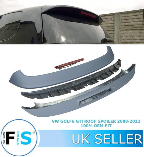 VW GOLF MK 6 GTI REAR ROOF SPOILER