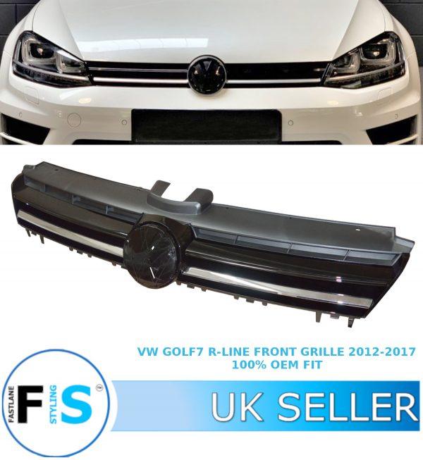 VW GOLF 7 MK7 R-LINE FRONT GRILLE