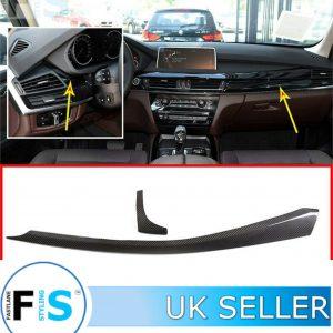 BMW X5 F15 CARBON FIBRE CENTRE CONSOLE FRONT PANEL COVER TRIM
