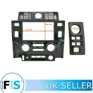 DEFENDER DOUBLE DIN STEREO KIT FASCIA SOUND SYSTEM PANEL