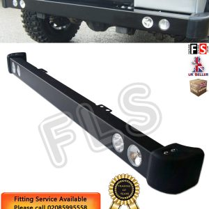 STEEL FRONT BUMPER LED DRL & SPOT LIGHTS & RUBBER CAPS FOR LAND ROVER DEFENDER