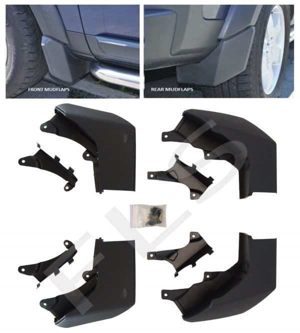 LAND ROVER DISCOVERY 3 04-09 FRONT & REAR MUDFLAP SET MUD FLAPS KIT OEM STYLE