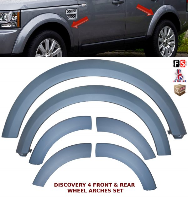 LAND ROVER DISCOVERY 4 LR4 WHEEL ARCH REPLACEMENT WHEEL ARCHES TRIM MOULDING SET