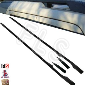 EXTENDED OEM STYLE BLACK ROOF RAILS BAR RACK FOR LAND ROVER DISCOVERY 3 & 4