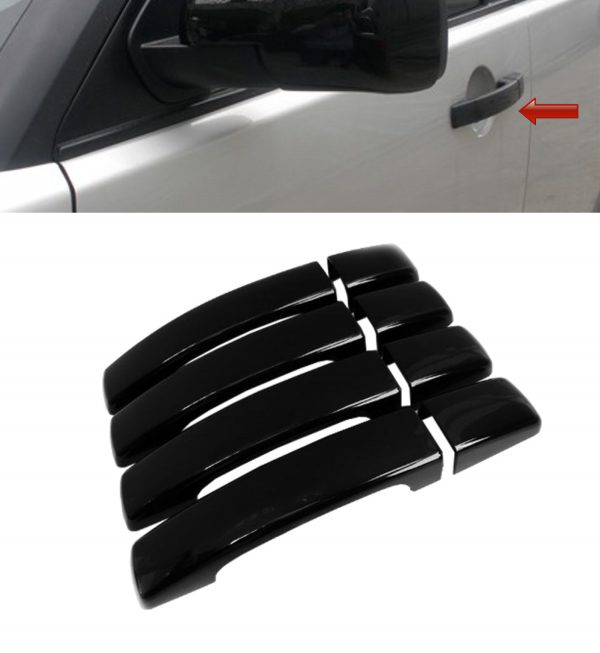 RANGE ROVER SPORT DOOR HANDLE COVERS COVER GLOSS BLACK 05-09 HIGH QUALITY