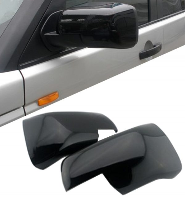 LAND ROVER DISCOVERY 4 SIDE WING MIRROR COVER PAIR GLOSS BLACK 09+ HIGH QUALITY