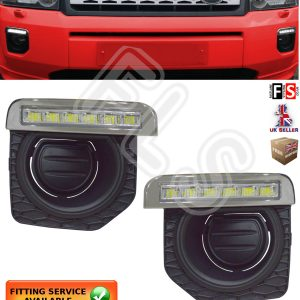 LED DRL DAY TIME RUNNING LIGHT LAMPS 2011-2014 FOG FOR LAND ROVER FREELANDER 2