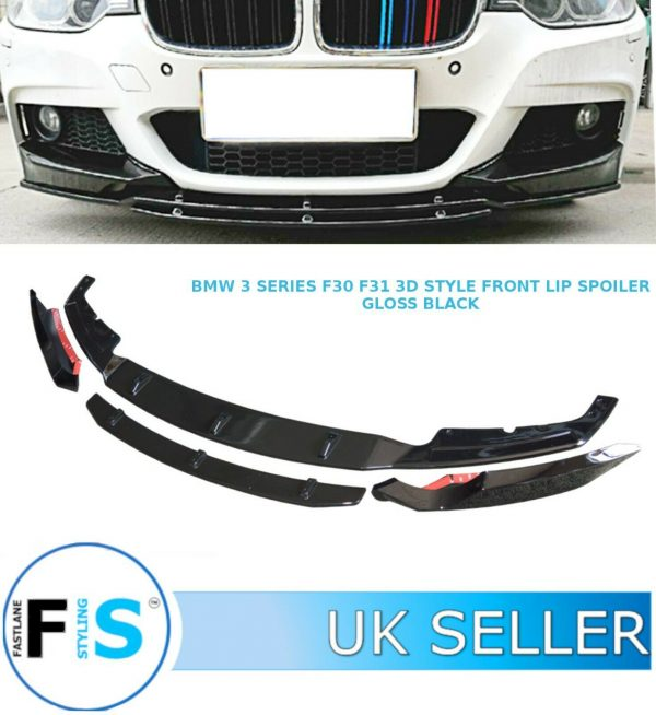BMW 3 SERIES F30 F31 FRONT DIFFUSER SPLITTER LIP SPOILER 3D STYLE