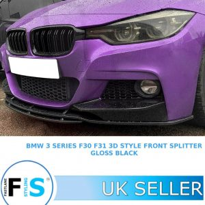 BMW 3 SERIES F30 F31 FRONT DIFFUSER SPLITTER LIP SPOILER 3D STYLE