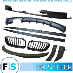BMW 3 SERIES F30 M SPORT BODY KIT FRONT SPLITTER DIFFUSER SPOILER