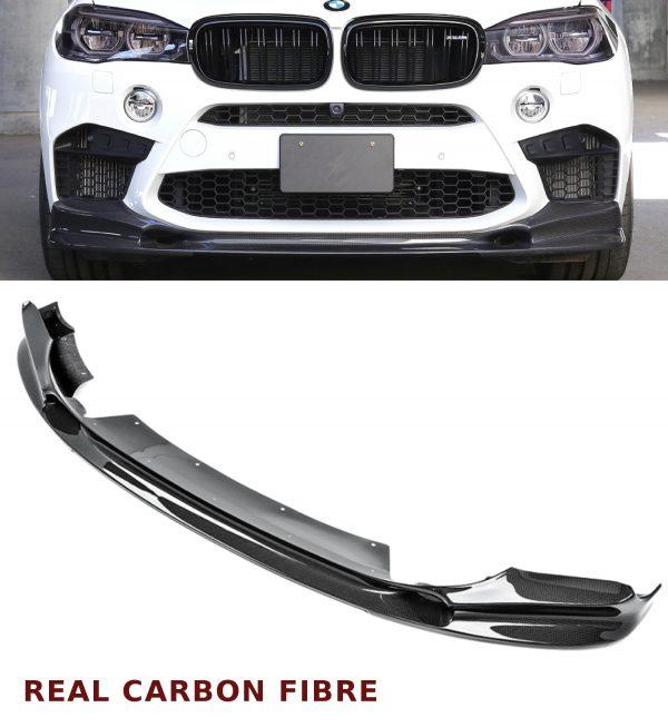 BMW X5 M F85 FRONT DIFFUSER SPLITTER LIP SPOILER 3D DESIGN REAL CARBON FIBRE 16+
