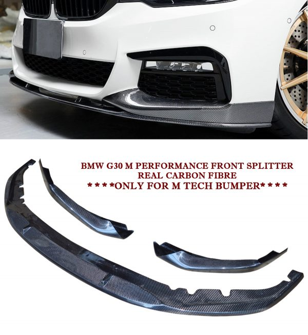 BMW 5 SERIES G30 M TECH M PERFORMANCE FRONT LIP SPOILER SPLITTER CARBON FIBRE