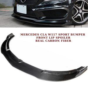 MERCEDES CLA C117 W117 SPORT BUMPER FRONT LIP SPOILER SPLITTER CARBON FIBRE