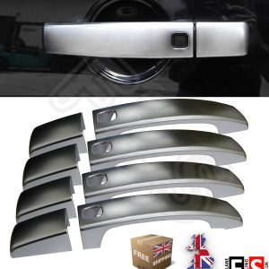 RANGE ROVER SPORT DOOR HANDLE COVERS 8PCs KEYLESS BRUSHED FINISHED HANDLE COVER
