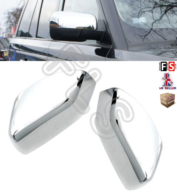 WING MIRROR COVER CHROME MIRROR COVER 2010 UP FOR USE ON LAND ROVER FREELANDER 2