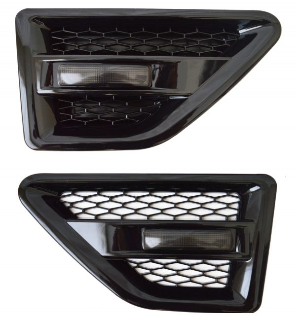 LAND ROVER FREELANDER 2 SIDE VENTS – BLACK INC REPEATERS-SMOKED – FL2SV-B-BR