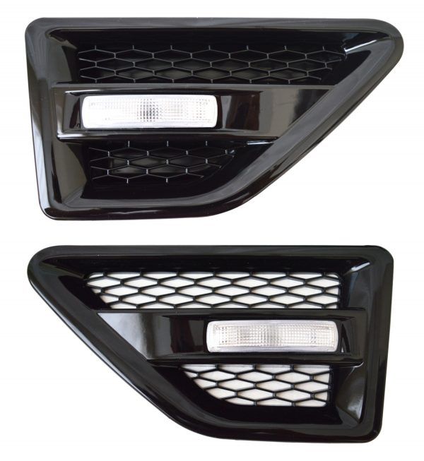 LAND ROVER FREELANDER 2 SIDE VENTS – BLACK INC REPEATERS-CLEAR – FL2SV-B-CR