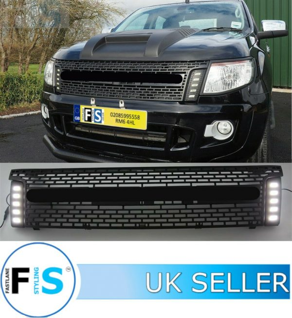 FORD RANGER RAPTOR T6 FRONT GRILLE WITH LED