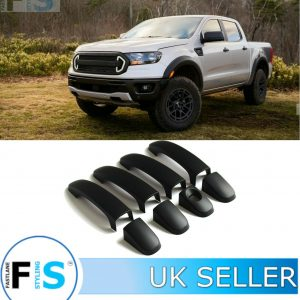 FORD RANGER MATTE BLACK ABS DOOR HANDLE COVERS