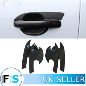 FORD RANGER MATTE BLACK DOOR HANDLE INSERT TRIMS