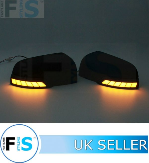 FORD RANGER DOOR WING MIRROR COVER CAP W LED SIGNAL