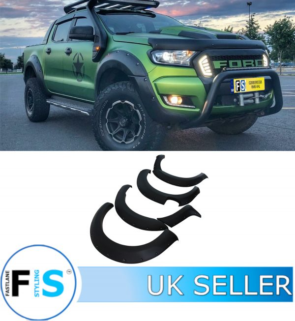 FORD RANGER RAPTOR T6 MATTE BLACK 9″ WIDE BODY WHEEL ARCH FENDER