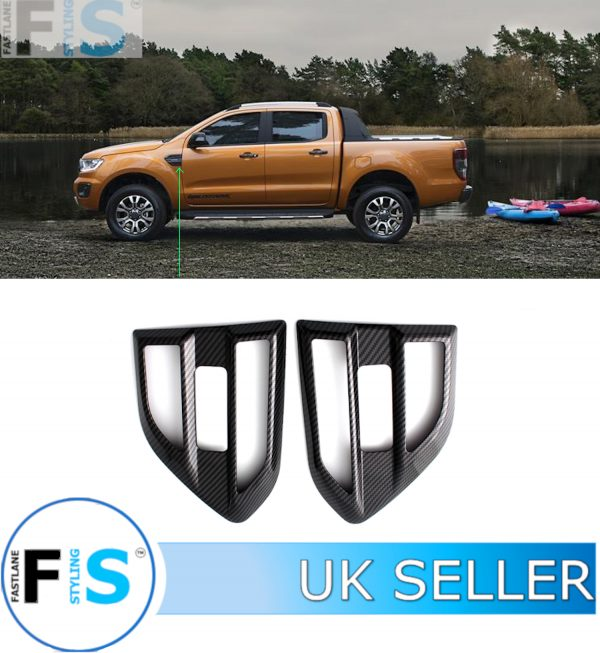 FORD RANGER WILDTRAK SIDE VENT COVER CARBON LOOK