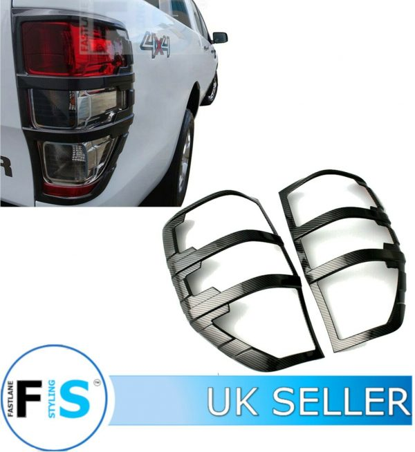 FORD RANGER STX REAR TAIL LIGHT COVERS CARBON LOOK