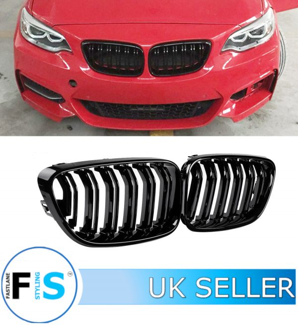 BMW 2 SERIES F22 F23 M2 STYLE FRONT GRILLES