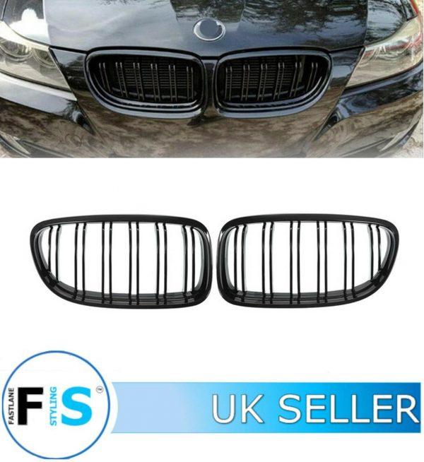 BMW 3 SERIES E90 E91 FRONT GRILLES DOUBLE SLAT
