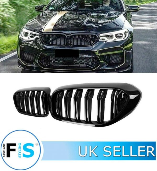 BMW 5 SERIES G30 G31 GLOSS BLACK FRONT GRILL