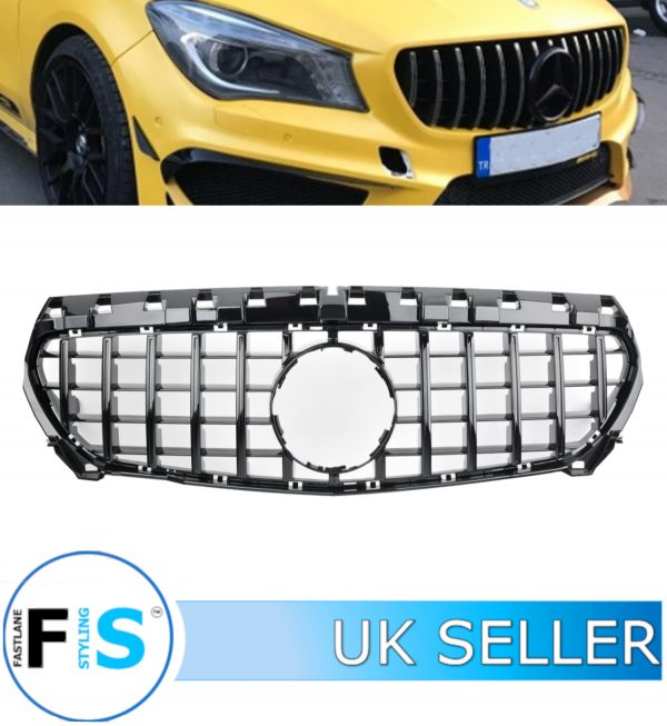 MERCEDES CLA CLASS C117 FRONT GRILLE PANAMERICANA GT STYLE