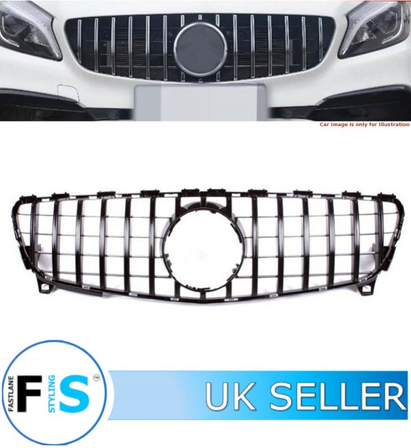 MERCEDES A CLASS W176 FRONT GRILLE PANAMERICANA GT STYLE