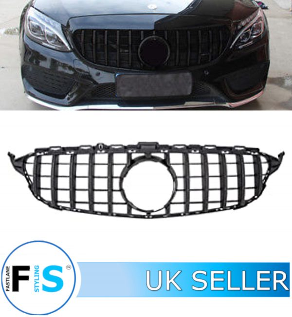 MERCEDES C CLASS W205 FRONT GRILLE PANAMERICANA GT STYLE 19+ FACELIFT