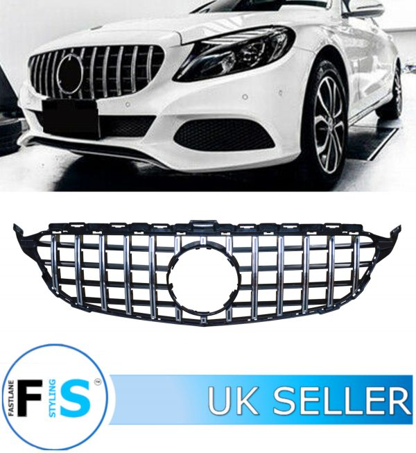 MERCEDES C CLASS W205 FRONT GRILLE PANAMERICANA GT STYLE